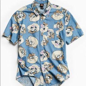 Taz Tasmanian devil button down shirt (L)